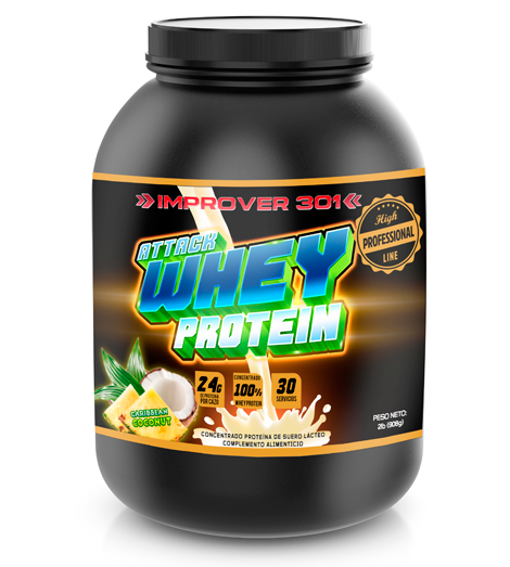 Attack Whey Protein PRO Caribbean Coconut